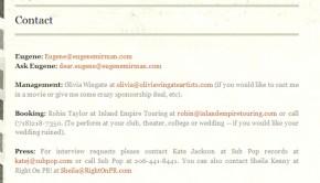 Eugene Mirman's website does it right