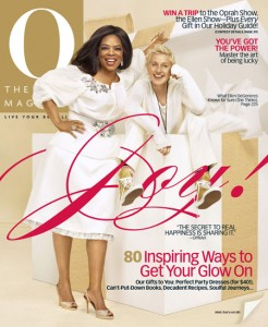 Ellen Degeneres on the cover of December's O magazine.